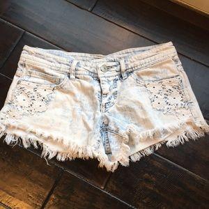 Pants - Jean shorts. Frayed